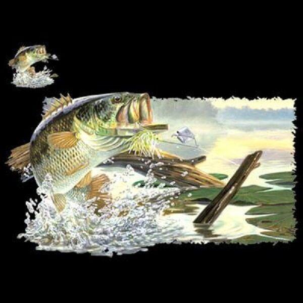 Fish Fishing Buzz Off HEAT PRESS TRANSFER PRINT for T Shirt Sweatshirt Tote 249d