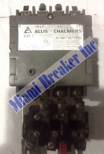 Allis Chalmers XL1CCO Starter Size 1 30A 600V 3 Pole-Unit Coil 208 Volts