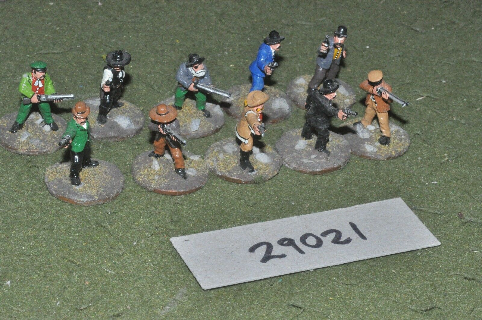 25mm ACW   old west - gunfighters 10 figures - inf (29021)