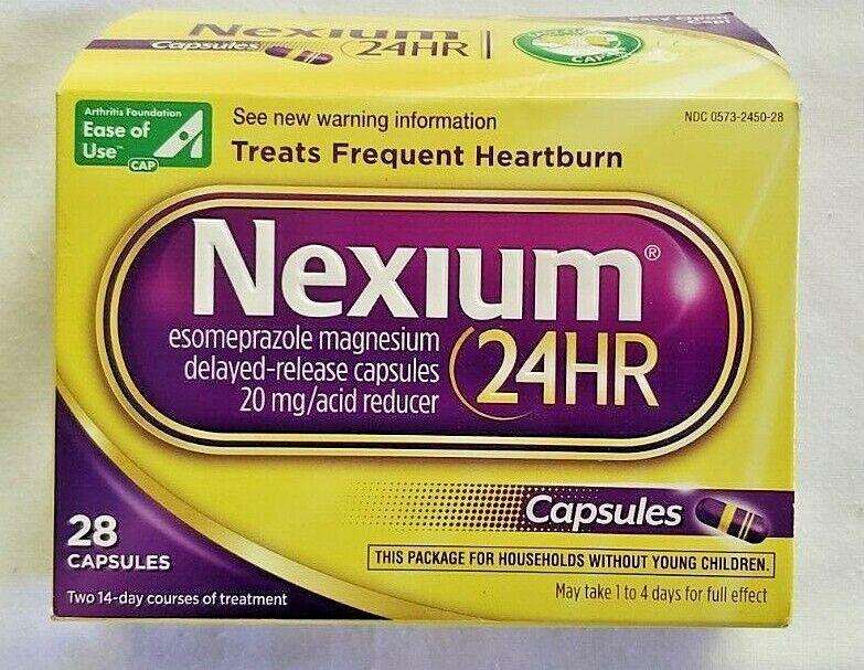 Nexium OTC Frequent Heartburn Medicine & Acid Reflux Reducer 28 Count Capsules 1