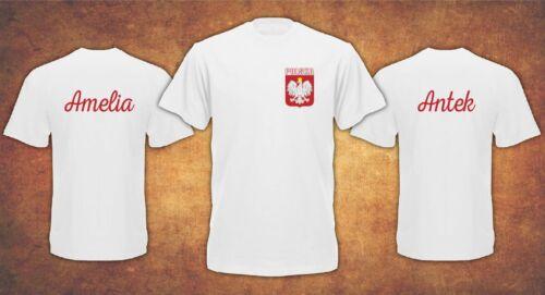Personalised Polska Poland World kibic Name on the Back  T-shirt Kids