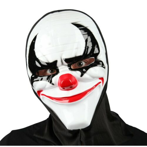 Scary Clown Masks With Hood Halloween Adults  Fancy Dress Face Mask