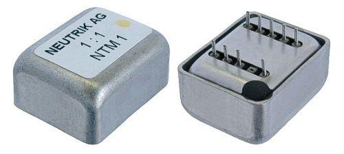 Neutrik NTM 1 Professional studio transformer 1 1 for PCB mount, fully shielded.