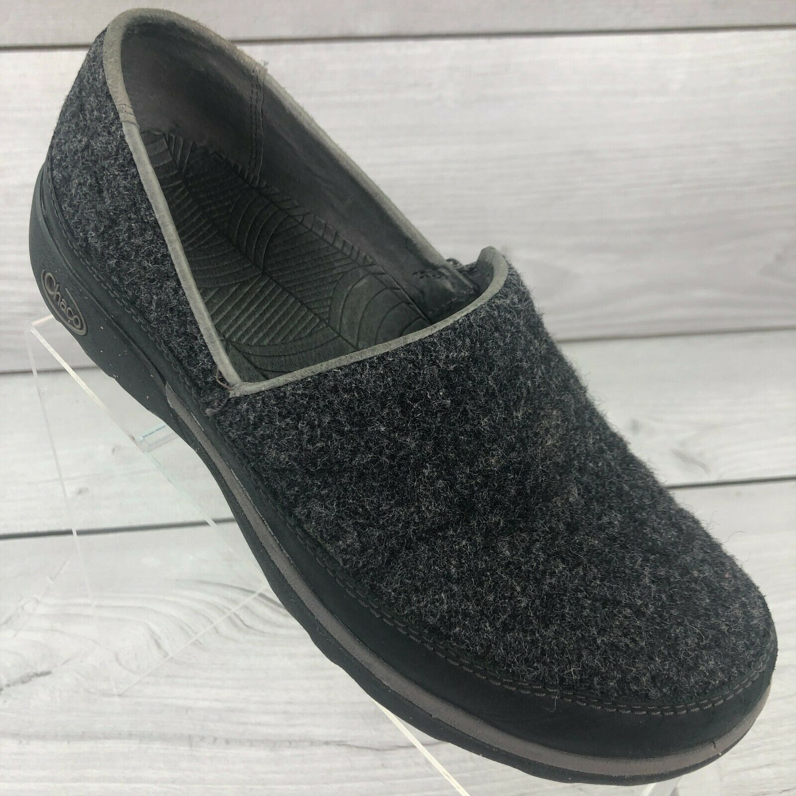 Chaco Black Sloan Wool Slip On Shoes Comfort Loafer Womens Size 7.5 J105806