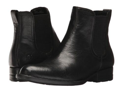 Women/'s Born Casco PullOn Chelsea Boot Black Leather F28803