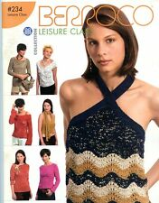 Leisure Class - Berroco #234 Knitting & Crochet Pattern Book - 17 Designs Women