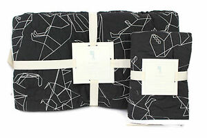 New-pottery-barn-kids-boys-Braden-Dino-stitched-quilt-quilted-sham-set-TWIN-nwt