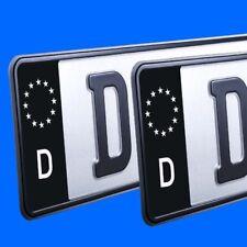 2x ✔ EU Feld ✔ Aufkleber Schwarz ✔ Kennzeichen Sticker ✔ Nummernschild Tuning ✔