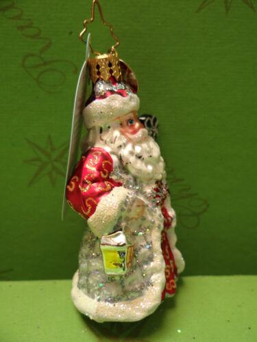 Christopher Sterling Ruby Nicholas Gem Glass Ornament