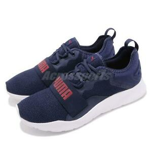 ae31a51f7c72 Puma Wired Pro Peacoat Red White Men Running Casual Shoes Sneakers ...