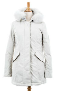 f96b04280b6 Details about Woolrich John Rich & Bros. Women's Luxury Arctic Parka Fox  White Size S WW2132