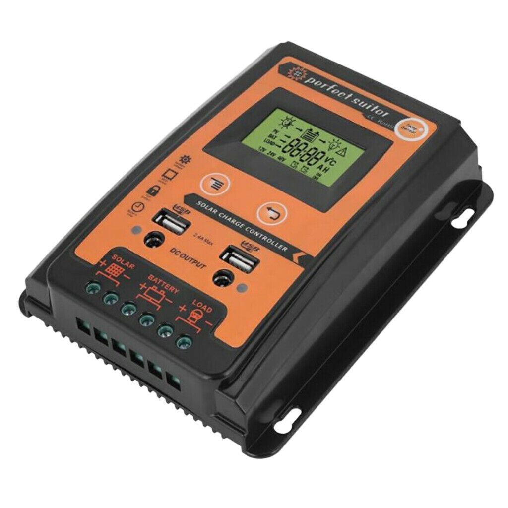 12V 24V 50A Solar Charge Controller Solar Panel Battery Regulator with LCD