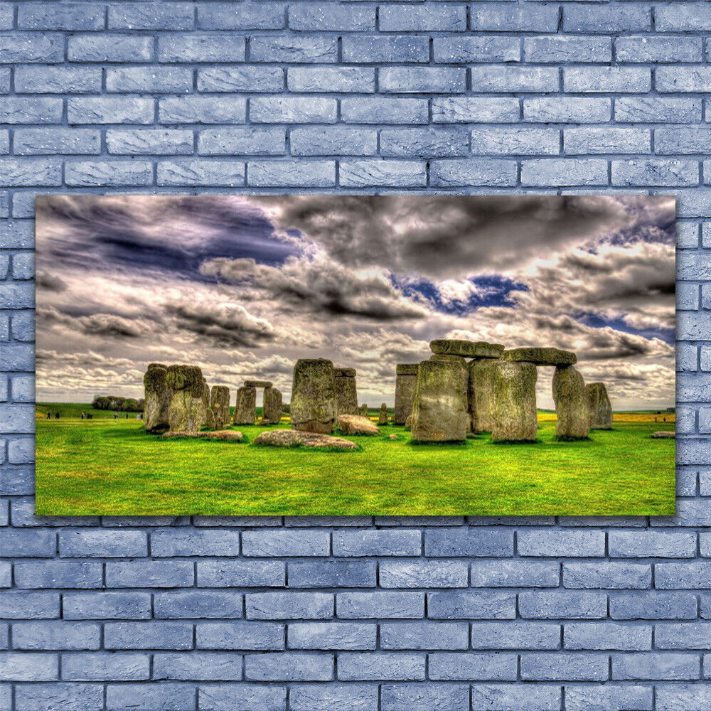 Print Print Print on Glass Wall art 140x70 Picture Image Stones Landscape 921ce1