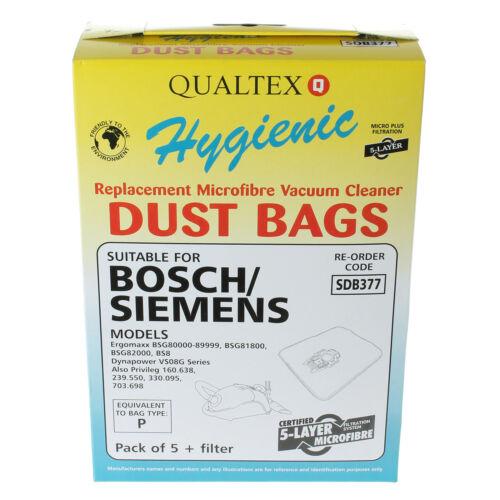 10 x Type P Vacuum Cleaner Hoover Dust Bags For Bosch MegaAir SuperTex Models