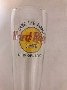 HARD-ROCK-CAFE-NEW-ORLEANS-SAVE-THE-PLANET-BEER-PILSNER-TALL-GLASS