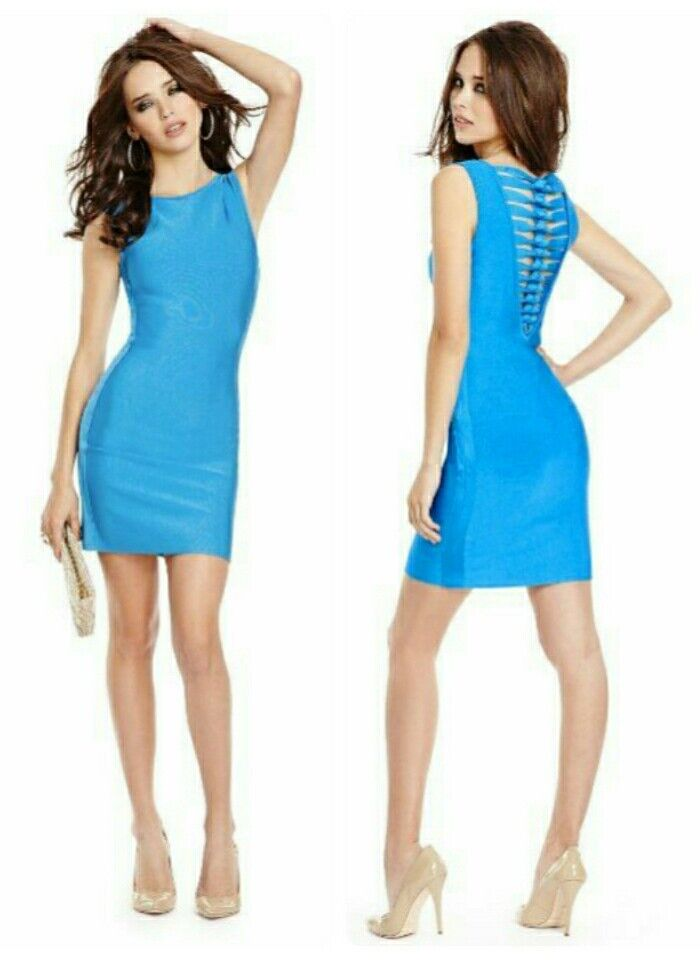 Guess By Marciano Bandage Theresa schwarz Dress