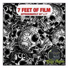 Hydrographic Film Tribal Skulls 7 X 20 Hydro Dip Dipping