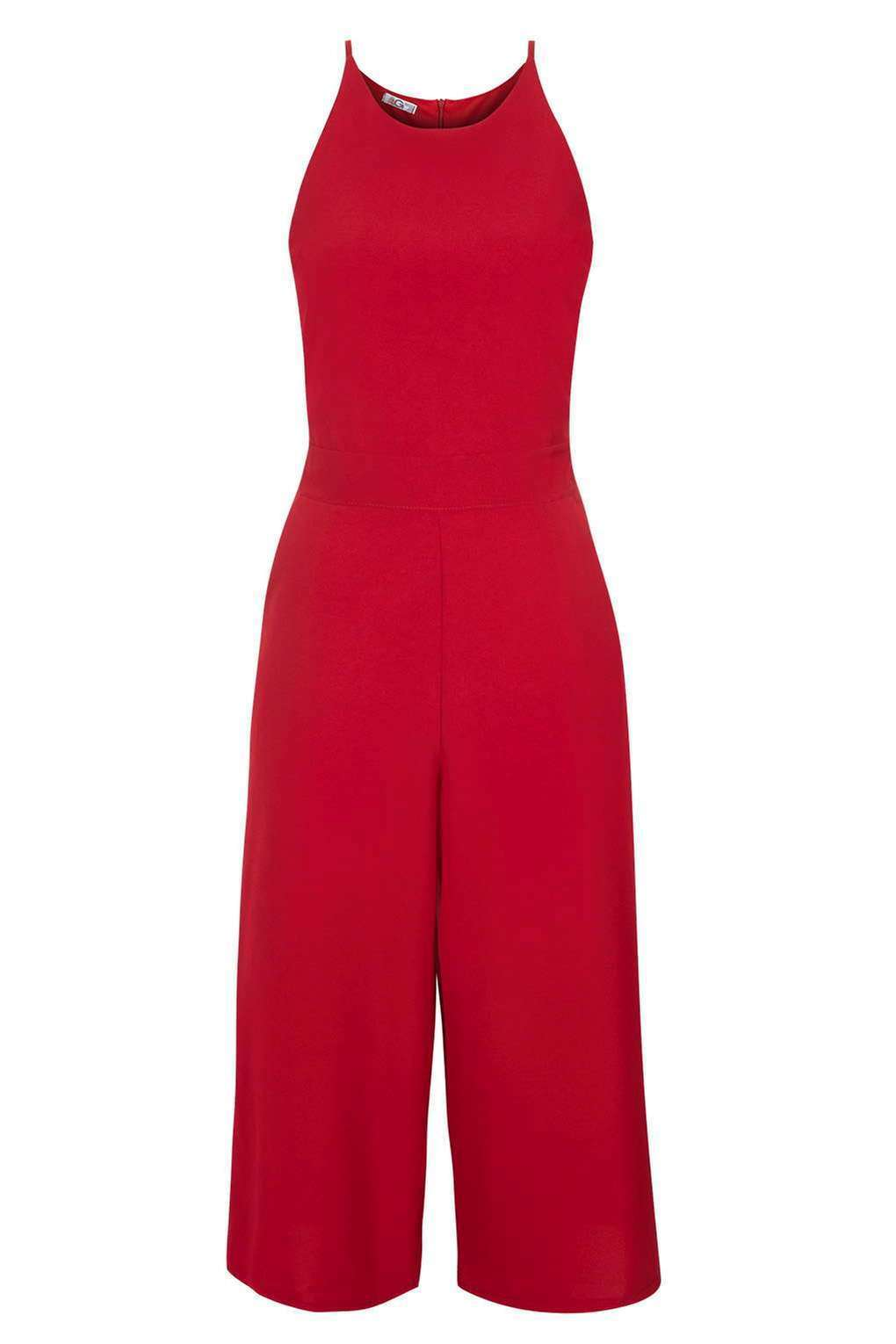Red Wine Culotte Jumpsuit by Wal G at Topshop Bloggers Celebrity Size BNWT
