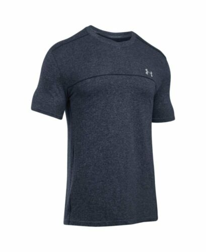 Large, Midnight Navy 1275960 Under Armour Men/'s UA Run Seamless V-Neck T-Shirt