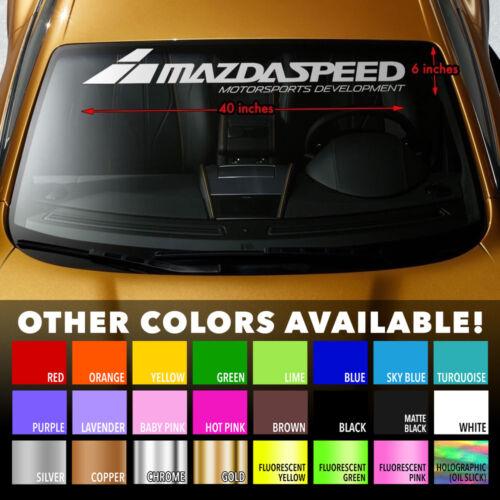 """MAZDA MAZDASPEED STYLE #2 Windshield Banner Vinyl Premium Decal Sticker 40/""""x6/"""""""