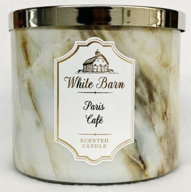 Bath /& Body Works PARIS CAFE COFFEE SCENT Large 3-Wick Candle