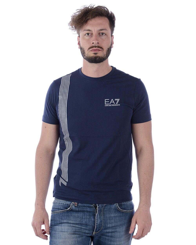Emporio Armani EA7 T hemd schweißhemd baumwolle Man Blau 3ZPT70PJ02Z 1554