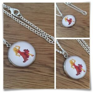 Emoji Salsa Dancer Red Dress Girl Blonde Charm pendant necklace txt geek