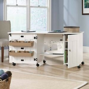 Image Is Loading Sewing Machine Table Cabinet Desk Craft Storage Bins