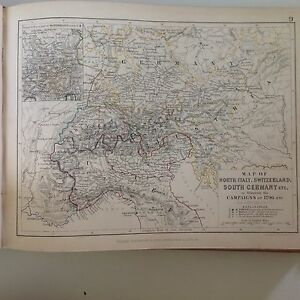 Antique campaign map italy switzerland germany french revolution image is loading antique campaign map italy switzerland germany french revolution gumiabroncs Gallery