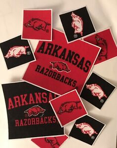 Arkansas-Razorbacks-Iron-On-fabric-appliques-Sports-Patches