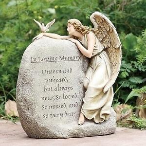 11 25 Quot Memorial Garden Angel In Loving Memory Statue