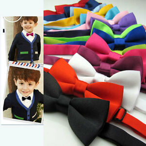 Baby-Boy-Kids-Child-Infant-Multi-Color-Wedding-Tuxedo-Bowties-Bow-Tie-Neckwear