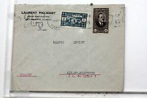 WW2-Beyrouth-Lebanon-France-Aix-Letter-Envelope-Cover-VB662