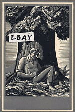 Rockwell Kent Ex Libris Bookplate Antioch Printing