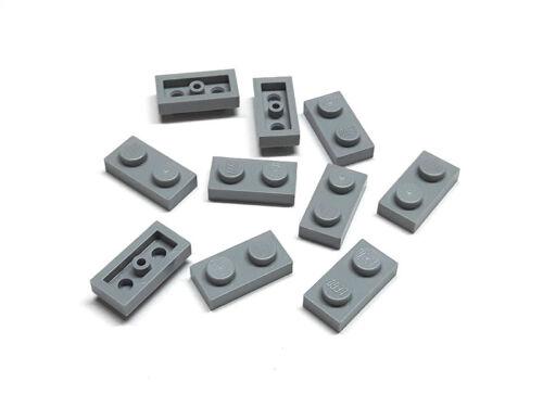 4211398 Lego Platte 1x2 Hellgrau 10 Stück