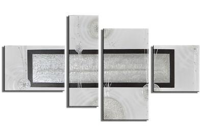 Abstrakte Kunst Handgemaltes Leinwandbild 120x70cm 4 Teilig 3024 Zu Verkaufen