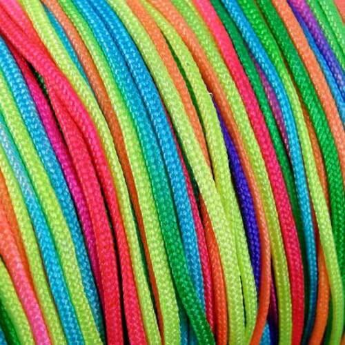 10 M x 2 mm cuerda trenzada de nylon hilo Arco Iris Multi Shamballa Pulsera anudada C