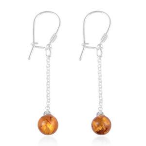 Boho-Handmade-Amber-Dangle-Drop-Earrings-925-Sterling-Silver-Beads-for-Women