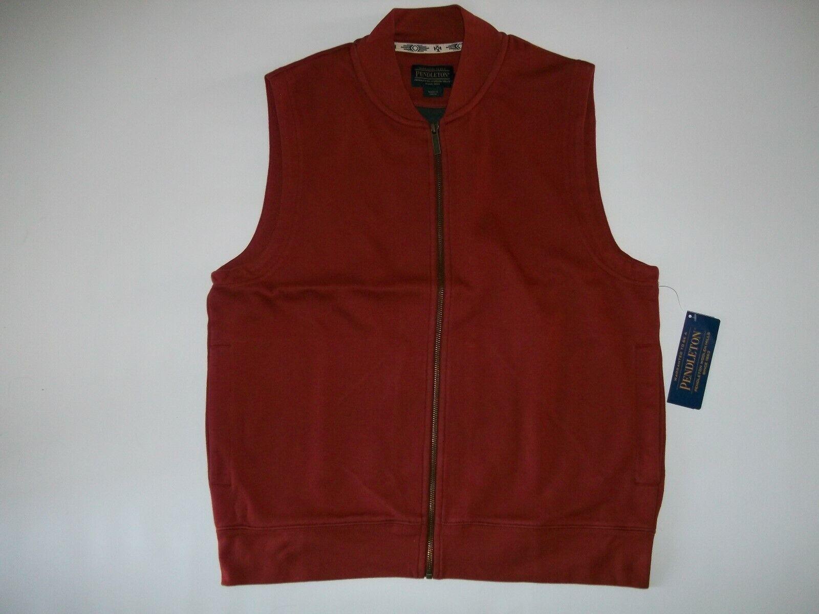 Pendleton Rost   Grau Alsea Fleecefutter Reißverschluss Top Jacke Herren Größe S