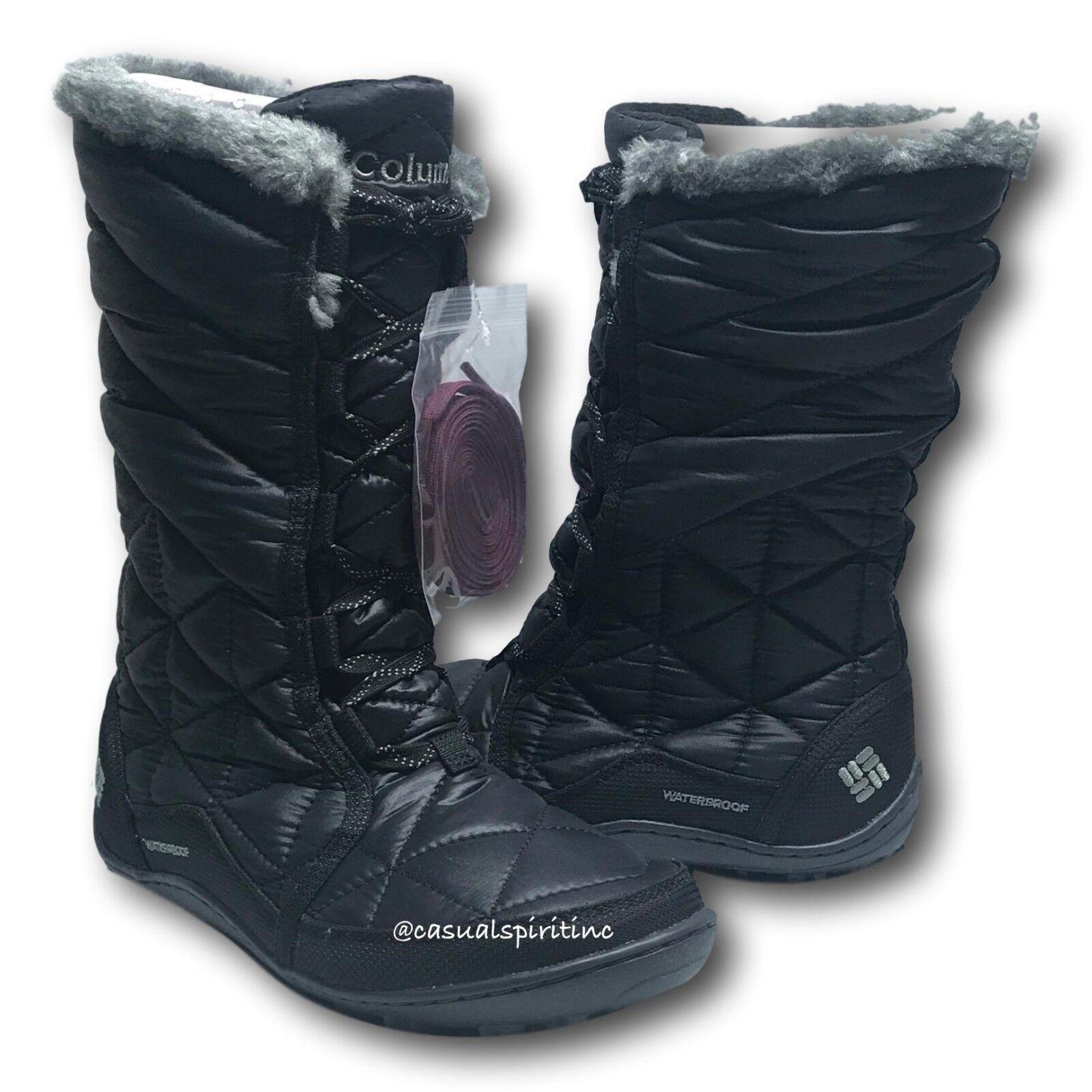 New  115 Columbia womens Powder Summit II waterproof winter snow boots Black