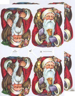 Chromo EF Découpis Père Noël Victorien 7377 Embossed Illustrations Santa