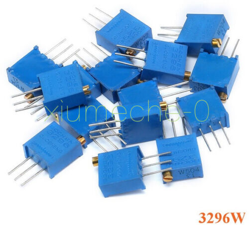 15 Values 3296 Trimmer Trim Pot Resistor Potentiometer Kits NEW