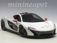 Autoart 76023 Mclaren P1 1/18 Model Car Ice Silver With Red Accents