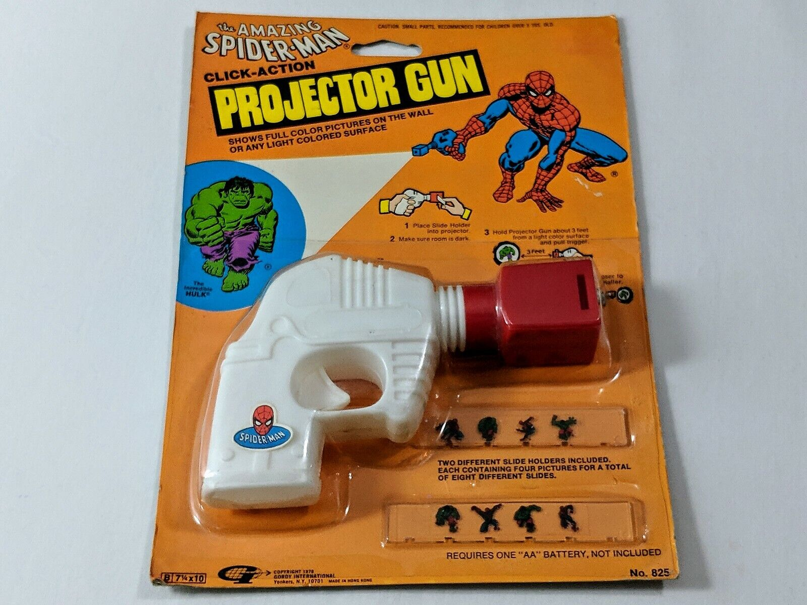Vintage The Amazing Spider-Man Projector Gun Marvel Super Heroes Rare 1978 NEW