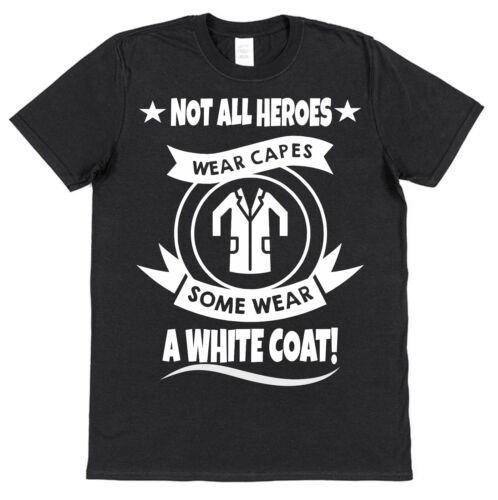 Certains Héros Porter blanc manteaux T-shirt en coton DR docteur scientifique psychiatre Lab