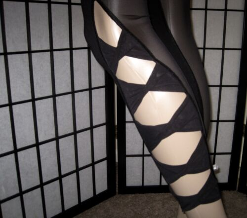 Knockout Yoga Sport Tight Nwt Victoria's Knot Black Mesh Strappy Leggings Secret wRwpgqfx0