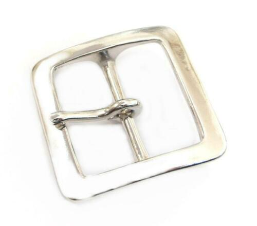 40mm Nickel Silver Square Buckle Single Prong Solid Brass Belt Smoky Sumis Store