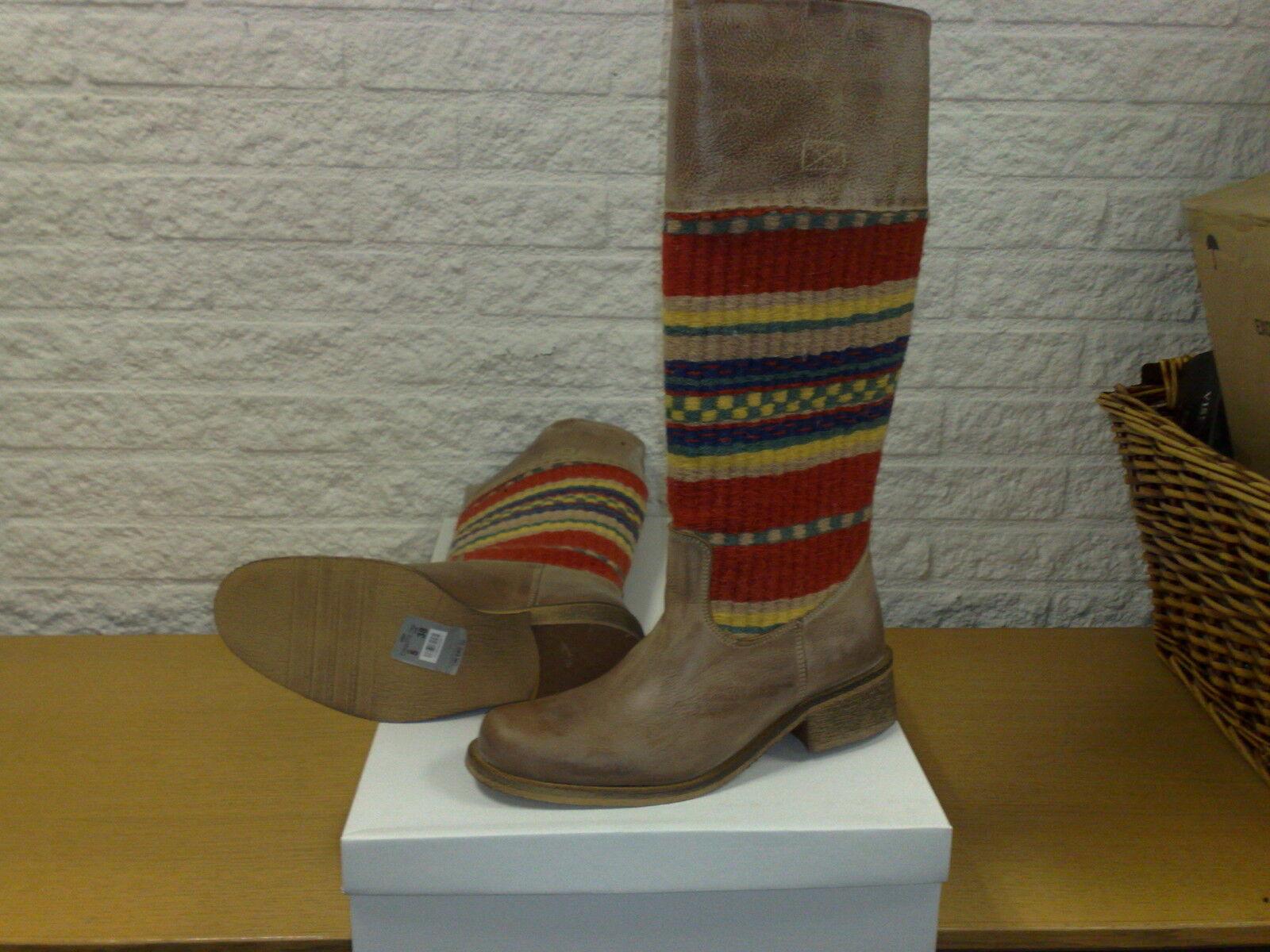 Haute Bottes Femmes KG,, kilim bottes style,, cuir véritable avec tapis,, NEUF