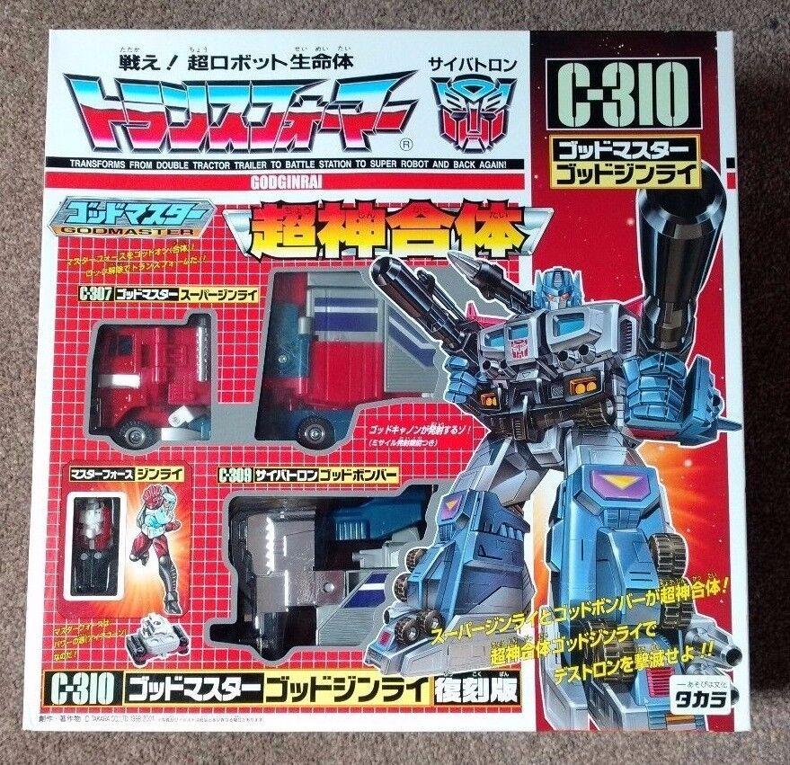 elige tu favorito Transformers Dios Ginrai Powermaster Optimus Optimus Optimus Prime-Takara Reedición-Nuevo Y En Caja Sellada  mas preferencial