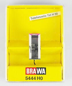 BRAWA-Spur-H0-5444-Telefonzelle-Tel-H-90-beleuchtet-OVP-top